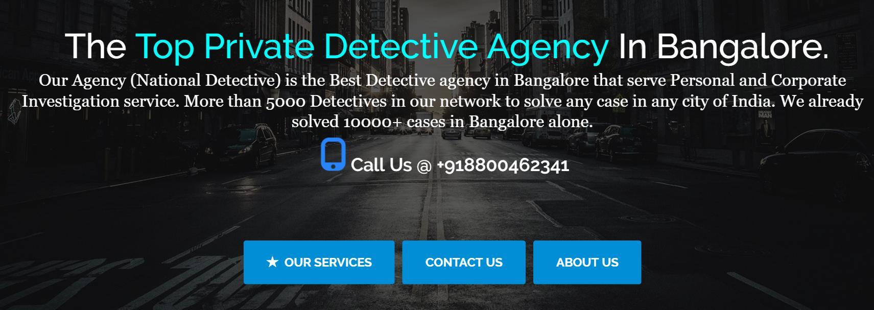 Private Detective Agency Bangalore